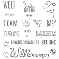 Herzlich willkommen Photopolymer Stamp Set (German) by Stampin' Up!
