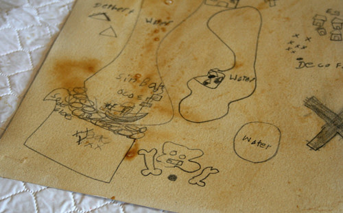 coffee painted map