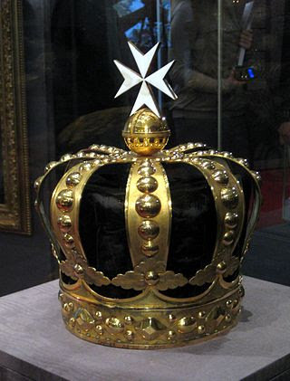 Maltese crown of Emperor Pavel I in Kremlin.