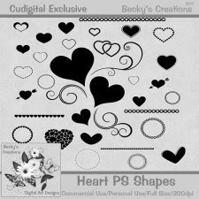 Heart PS/PSE Shapes - Exclusive - Beckys Creations
