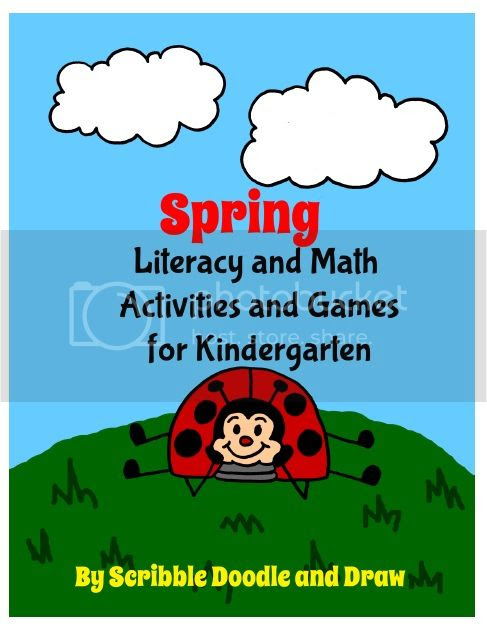 Spring literacy and math centers