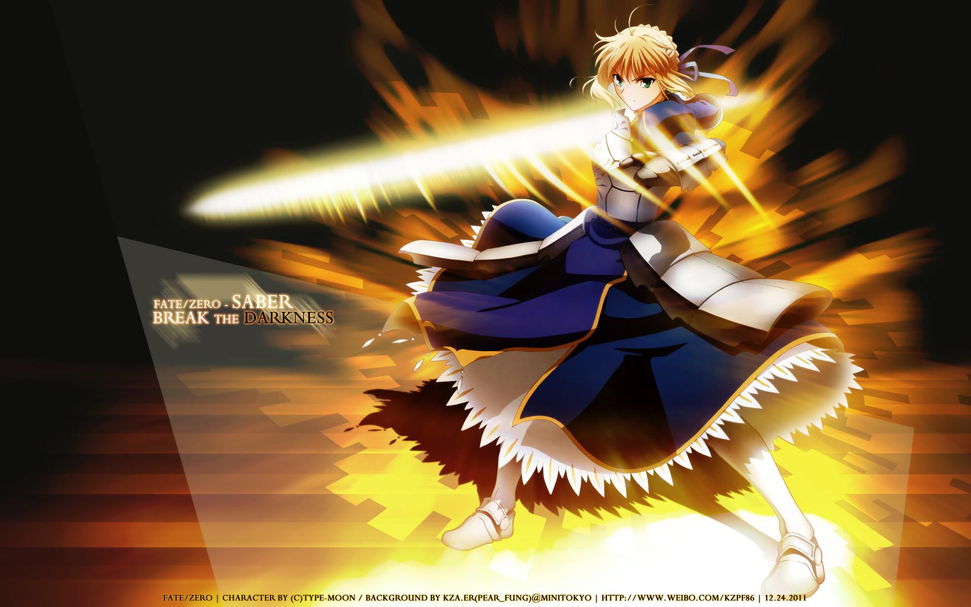 Fate Zero Wallpaper Saber Break The Darkness Minitokyo