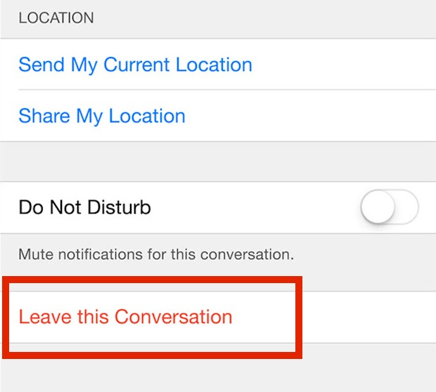 How to Leave a Group Chat in Messages for iOS on iPhone ...