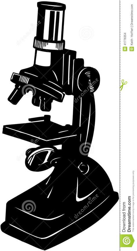 Microscope Cartoon Vector Clipart Stock Vector