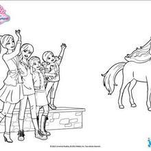Coloriages Barbie Et Ses Soeurs Au Club Hippique 15 Coloriages