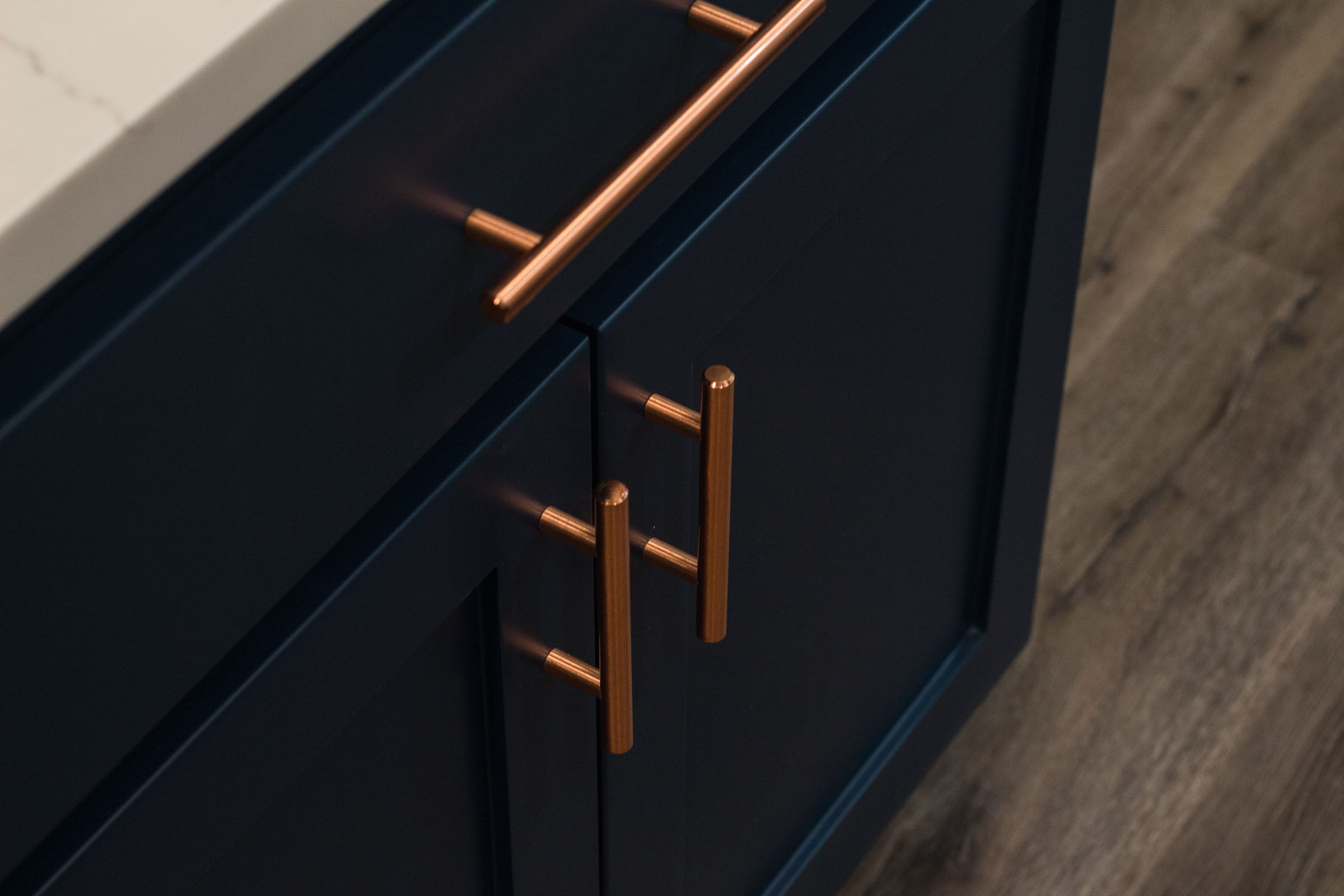 Navy Copper Kitchen Remodel Jarrell Signature
