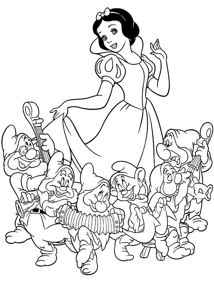 Dibujos Para Colorear De Blancanieves Y Los Siete Enanitos Ideas