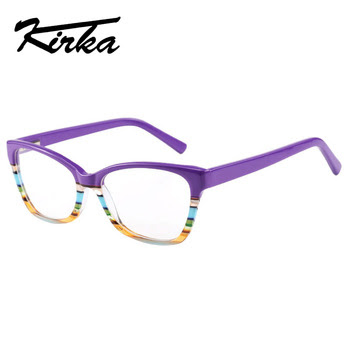 e876c42c36 Kirka Glasses Frame Women Optical Glasses Retro Clear Lens Myopia Brand Eyeglasses  Frame Reading Glasses Fashion Eyewear