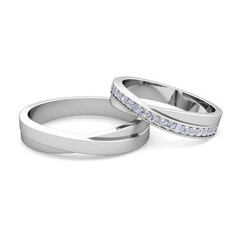Matching Wedding Band: Infinity Diamond Wedding Ring Set