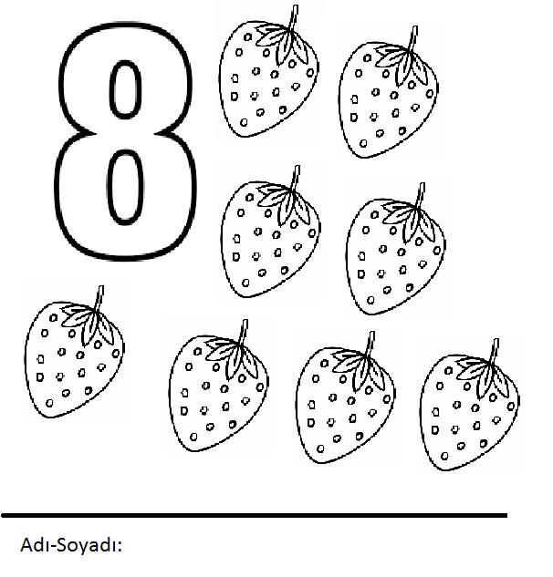Rakamlar Boyama Sayfaları Sayfa 8 10 Arabulokucom