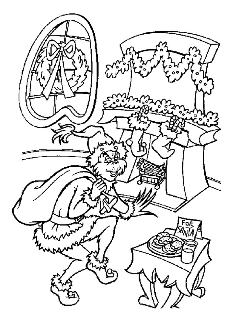 The grinch is santa claus coloring pages - Hellokids.com