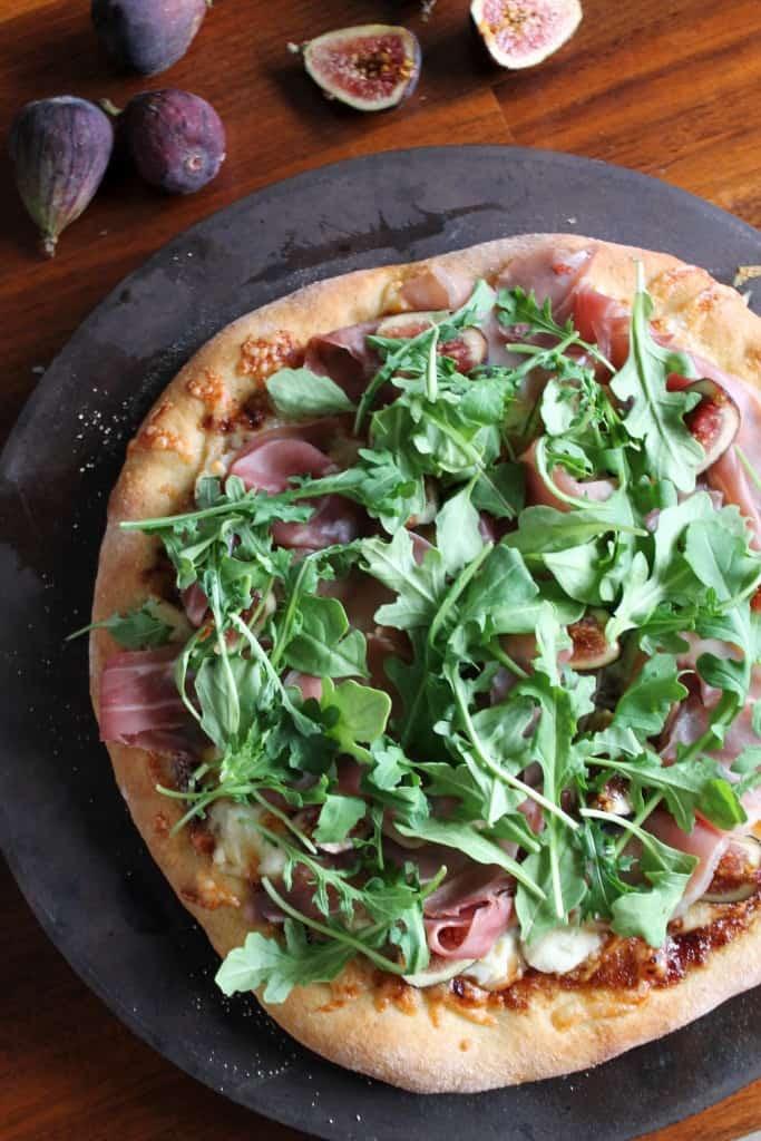 Fig, Prosciutto & Arugula Pizza 2