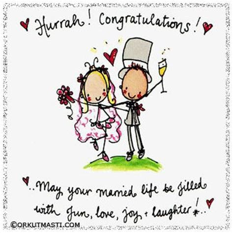 Hurrah congratulations on your wedding   best wishes