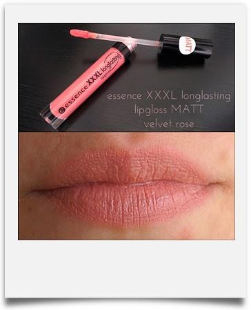 essence xxxl longlasting lipgloss matt velvet rose