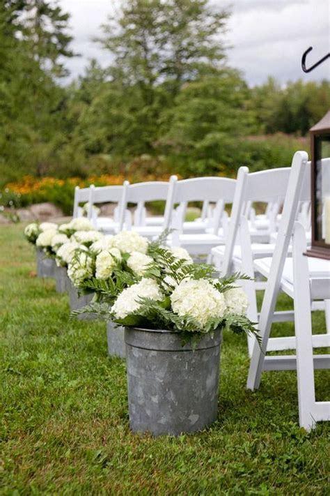 Outdoor Wedding Aisle Design Ideas   Wedding, Buckets and