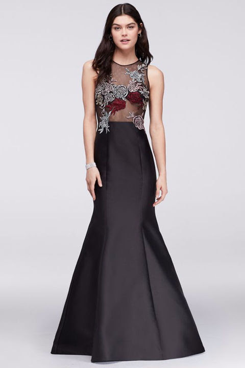 rose prom dress