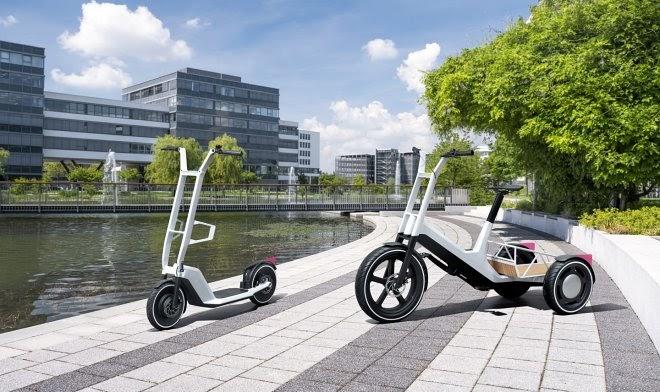 BMW представила концепты электросамоката и грузового велосипеда