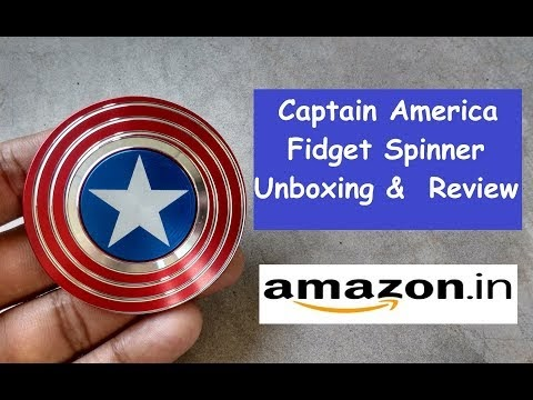 Captain America Fidget Spinner Unboxing & Review
