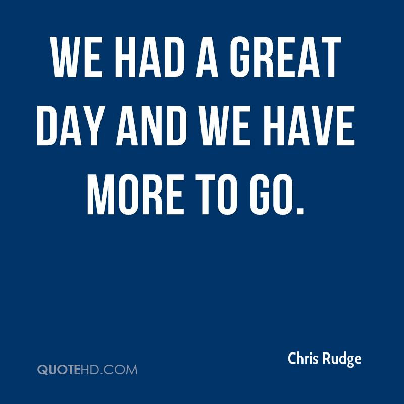 Chris Rudge Quotes Quotehd