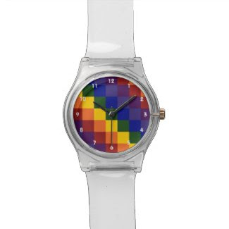 Checkered Rainbow Watch