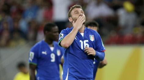 Daniele De Rossi, centrocampista della Nazionale. Reuters