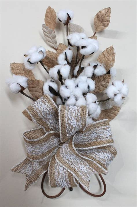 Natural Cotton Bolls, Cotton Anniversary Bouquet, 2nd