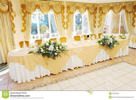 head tables at wedding receptions   Stock Photography: Top