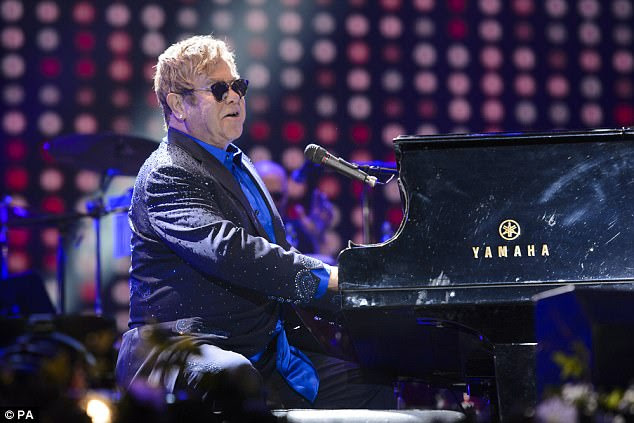 Risk: Elton John was left in intensive care at a UK hospital after being struck down by a 'potentially deadly' bacterial infection in South America