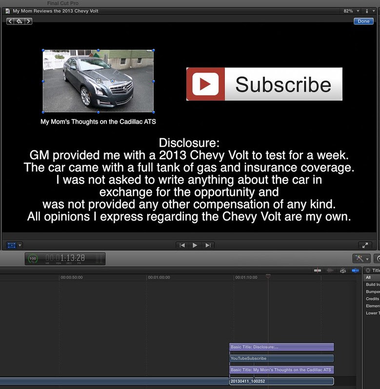 FCP X: YouTube Video Post Roll and Subscribe Button