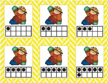Scarecrow Ten Frame Matching Game (1-10)