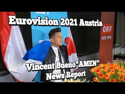 "Eurovision 2021 Austria ""AMEN"" Vincent Bueno News Report Mar 10th 2021"