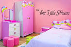 Our Little Princess Girls Bedroom Wall Art by walldecalquotes