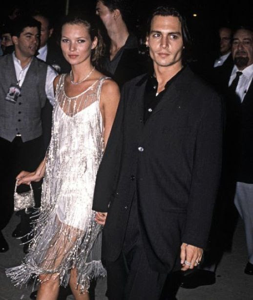 LE FASHION BLOG JOHNNY DEPP KATE MOSS JOHNNY AND KATE INSPIRATION WHITE BEADED SHEER FLAPPER SHORT DRESS EVENT 11