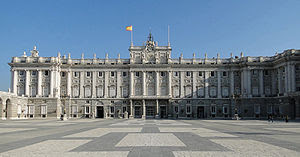 Courtyard of the Royal Palace of Madrid, Spain
