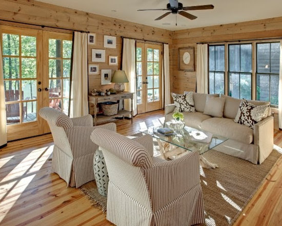 Knotty Pine Living Room Design Ideas, Pictures, Remodel ...