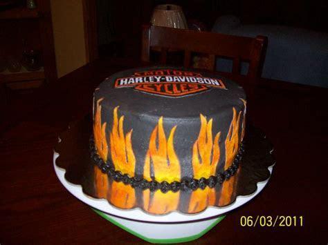 Harley Davidson birthday cake   Cake Decorating Community