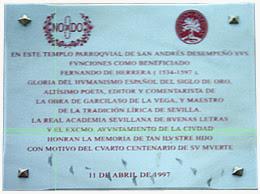 Imagen de Placa: Fernando de Herrera