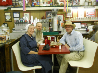 David, Susan & Kevin at the Owl Drug Store Soda Fountain & Grill for Lunch