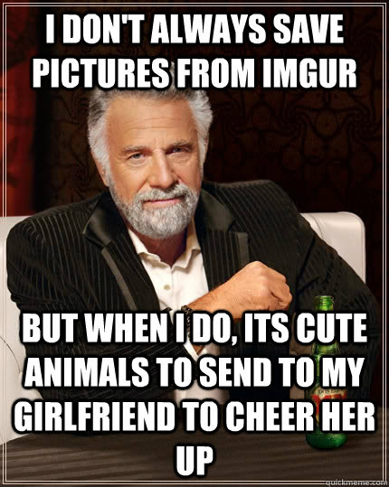 I Dont Always Save Pictures From Imgur But When I Do Its Cute