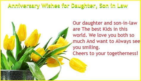 First Wedding anniversary wishes for daughter, Son in law