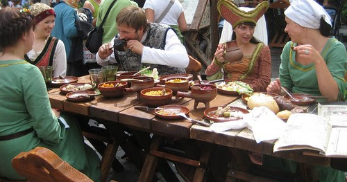 Medieval meal in Tallinn Old Town by Anna Amnell