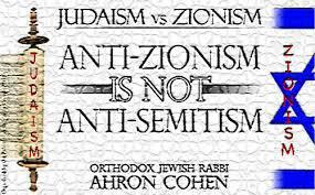 Αποτέλεσμα εικόνας για judaism rejects zionism