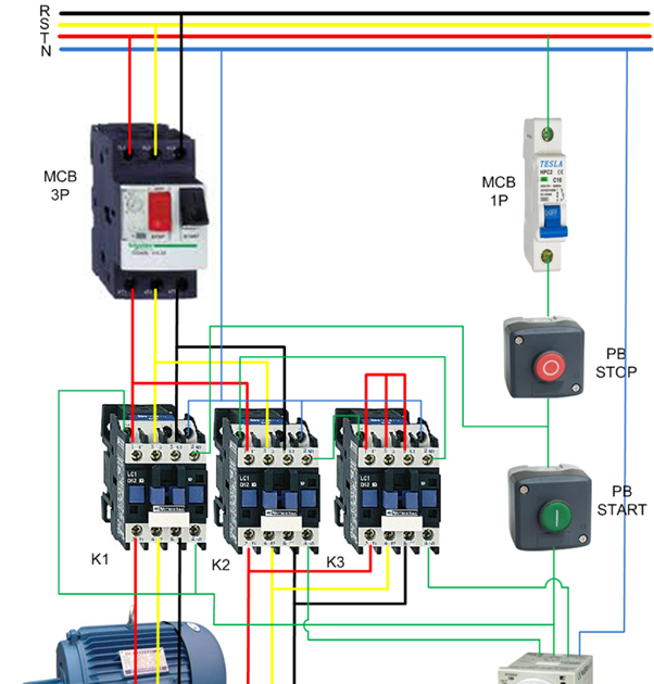 Diagram Installation 3 Phase Contactor Wiring Diagram