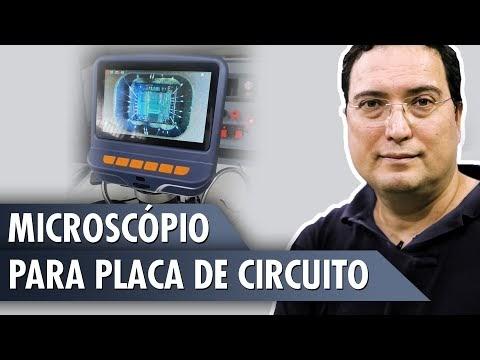 Microscópio para placa de circuito