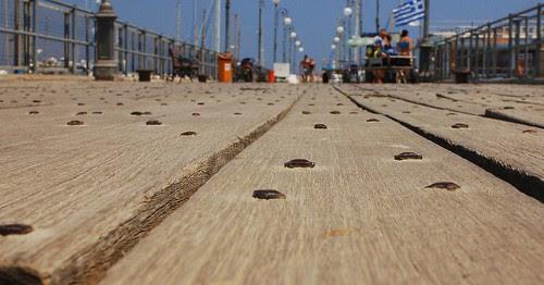 Pier in Larnaca harbour