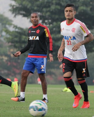 Cristóvão Borges, Everton, Jonas, Flamengo (Foto: Gilvan de Souza / Flamengo)