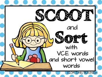 http://www.teacherspayteachers.com/Product/Phonics-Scoot-and-Sorts-VCE-and-short-vowel-words-1308380