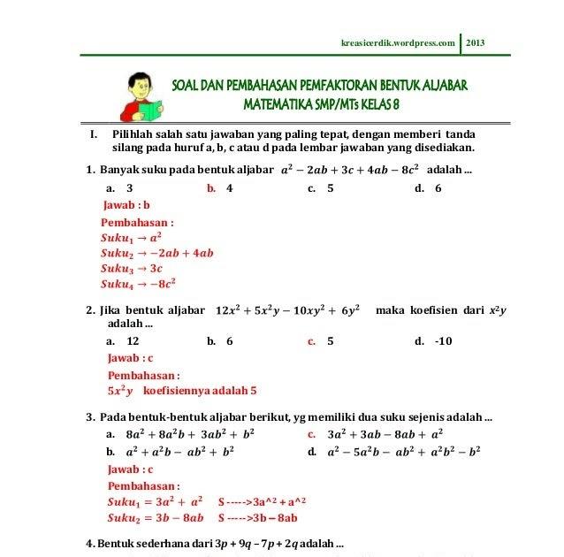 Gambar 10: Contoh soal psikotes gambar dan aljabar Lengkap dan Jawabannya