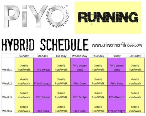 running piyo hybrid google search gym