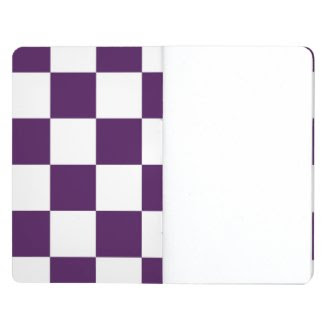 Checkered Purple and White Journal